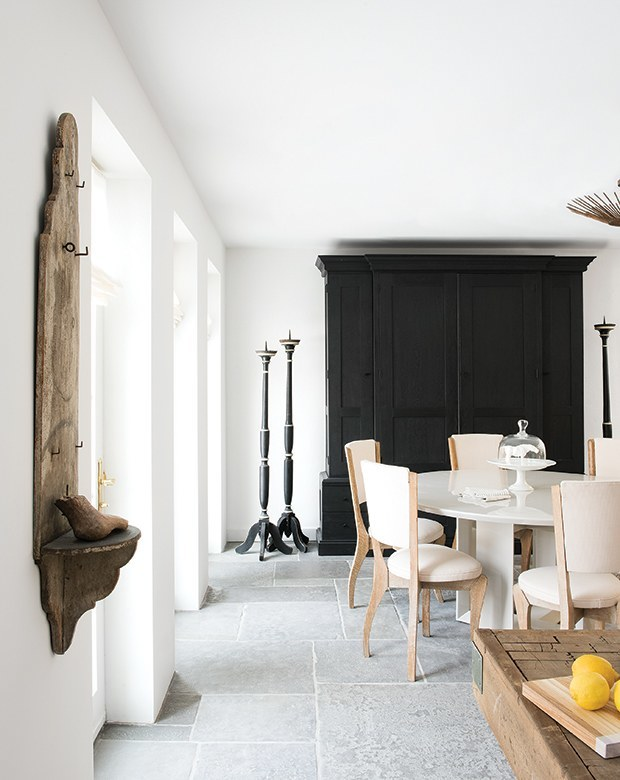 Think About How Light Contributes To Your Seasonal Decorating. The Weighty  Black Armoire And Floor Candlesticks Add Some Gravitas To The This Dining  Room In ...